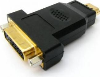 Adaptor OEM HDMI male la DVI 24+5 female ,Negru Adaptoare