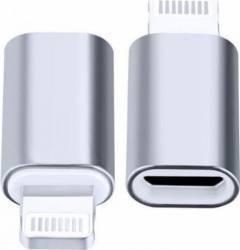 Adaptor OEM Micro USB la Lightning iPhone - iPad, Argintiu Adaptoare
