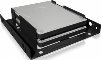 Adaptor Raidsonic Icy Box IB-AC643 HDD SSD 2x 2.5inch la 3.5inch negru