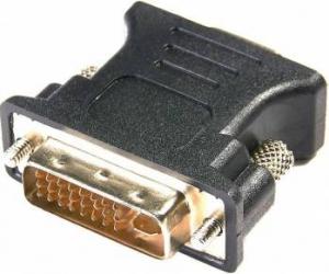 Adaptor Serioux DVI 18+5 pini tata - VGA 15 pini mama Negru Adaptoare