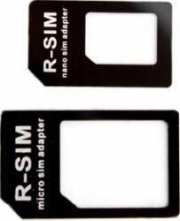 Adaptor Xqisit Nano SIM la Micro SIM Regular SIM Negru Accesorii Diverse Telefoane
