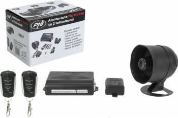 pret preturi Alarma auto PNI OV288 cu 2 telecomenzi si modul inchidere centralizata