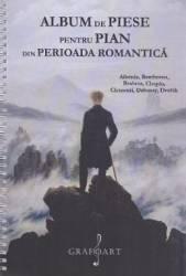 Album de piese pentru pian din Perioada Romantica Albeniz Beethoven Brahms Chopin Clementi Debussy Dvorak