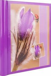 Album foto purple flower 10 file autoadezive format 23x28cm coperta carton mov Albume Foto