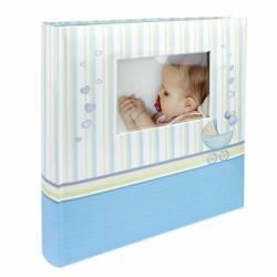Album foto Baby Chart personalizabil poze autoadezive 100 pagini 32x29 cm albastru Albume Foto
