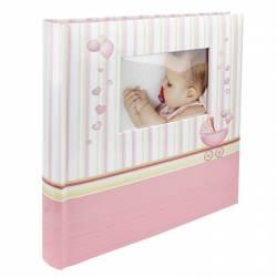Album foto Baby Chart personalizabil poze autoadezive 100 pagini 32x29 cm roz Albume Foto