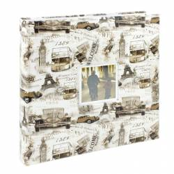 Album foto Loony personalizabil 500 poze 10x15cm slip-in spatiu note crem Albume Foto