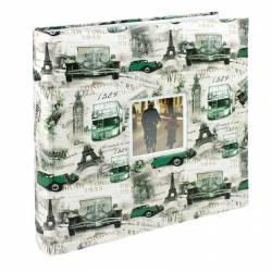 Album foto Loony personalizabil 500 poze 10x15cm slip-in spatiu note verde Albume Foto