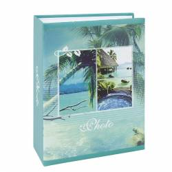 Album fotografii Palm Island 10x15 cm 100 buzunare slip-in turquoise Albume Foto