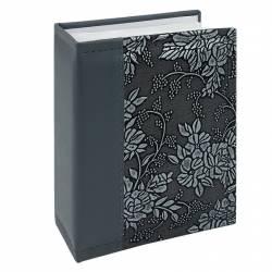 Album NewStyle 100 poze 10x15 slip-in piele ecologica imprimeu floral gri Albume Foto