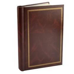 pret preturi Album poze Clasic 20 file autoadezive 23x28cm piele ecologica insertii aurii maro