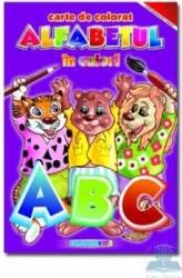 Alfabetul in culori - Carte de colorat