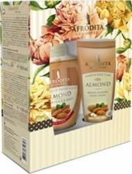 Pachet promotional Cosmetica Afrodita Almond Hand Cream 100ml + Liquid Hand Wash 300ml