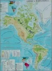 America - Harta Fizica + Harta Politica A3