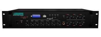 Amplificator 120W cu mixer pe 100V and 4-16Ohmi DSPPA MP310U 6 zone intrari 4Mic si 3AUX USBSDTuner Amplificatoare audio