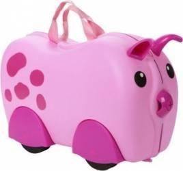 Animal cu roti tip Valiza pentru bagaje Porcusor Jucarii de exterior