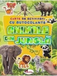 Animale din jungla - Carte de activitati cu autocolante Carti