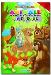 Animale din padure. Romana - Engleza - Carte de colorat