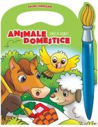 Animale domestice - Carte de colorat culori fermecate