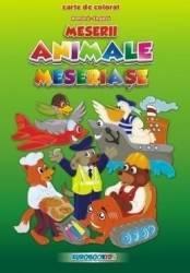 Animale meseriase - Meserii romana-engleza - Carte de colorat