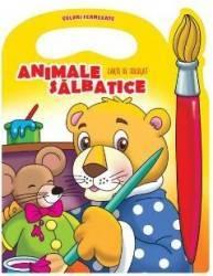 Animale salbatice - Carte de colorat culori fermecate