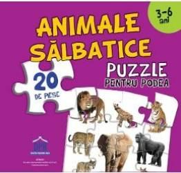 Animale salbatice. Puzzle pentru podea 3-6 ani
