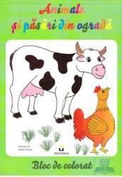 Animale si pasari din ograda - Bloc de colorat