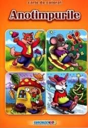 Anotimpurile - Carte de colorat