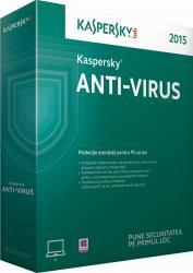 Anti-Virus Kaspersky 2015 EEMEA Edition 1PC 1An Licenta Reinnoire Box