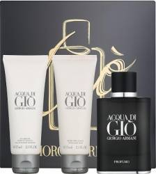 Apa de Parfum Acqua di Gio Profumo 40ml + Shower Gel 75ml + After Shave Balsam 75ml by Giorgio Armani Barbati Apa de par Seturi Cadou