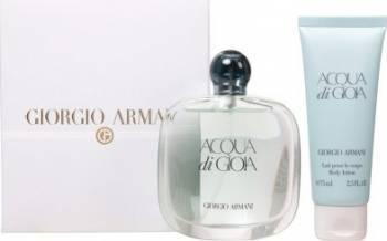 Apa de Parfum Acqua di Gioia 100ml + Body Lotion 75ml by Giorgio Armani Femei 100ml + 75ml Seturi Cadou