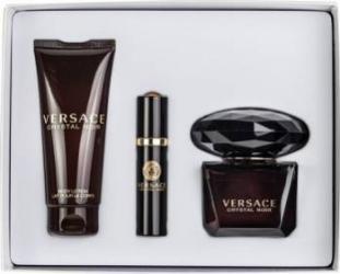Apa de Parfum Crystal Noir 90ml + Body Lotion 100ml + 10ml by Versace Femei 90ml+100ml+10ml