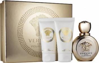 Apa de Parfum Eros pour Femme 50ml + Shower Gel 50ml + Body Lotion 50ml by Versace Femei 50ml+50ml+50ml