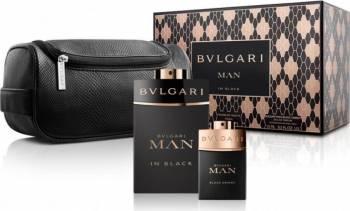 Apa de Parfum Man in Black 100ml + Black Orient 15ml + Borseta by Bvlgari Barbati Parfumuri de barbati