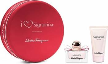 Apa de Parfum Signorina 30ml + Body Lotion 50ml by Salvatore Ferragamo Femei 30ml+50ml