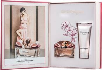 Apa de Parfum Signorina 50ml + Body Lotion 100ml by Salvatore Ferragamo Femei 50ml+100ml