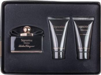 Apa de Parfum Signorina Misteriosa 50ml + Body Lotion 50ml + Shower Gel 50ml by Salvatore Ferragamo Femei Seturi Cadou