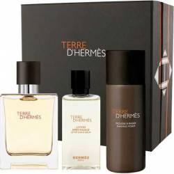Apa de Parfum Terre d Hermes Parfum 75ml + After Shave 40ml + Shaving Foam 50ml by Hermes Barbati  Seturi Cadou