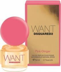 Apa de Parfum Want Pink Ginger by Dsquared2 Femei 50ml Parfumuri de dama