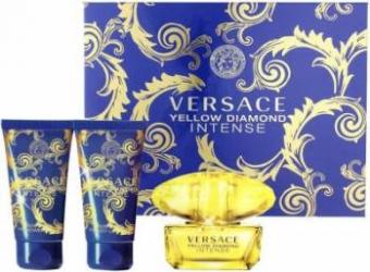 Apa de Parfum Yellow Diamond Intense 50ml + Body Lotion 50ml + Shower Gel 50ml by Versace Femei Apa de parfum 50ml+Lotiu Seturi Cadou