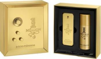 Set Cadou 1 Million Apa de toaleta 100ml + Deodorant Spray 150ml by Paco Rabanne Barbati