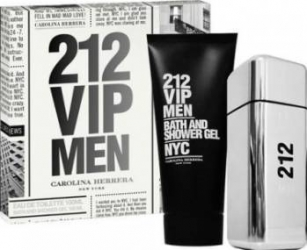 Apa de Toaleta 212 VIP Men 100ml + Shower Gel 100ml by Carolina Herrera Barbati 100ml+100ml Parfumuri de barbati