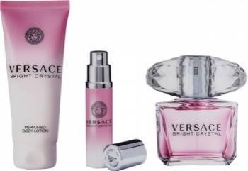 Apa de Toaleta Bright Crystal 90ml + Body Lotion 100ml + 10ml by Versace Femei 90ml+100ml+10ml