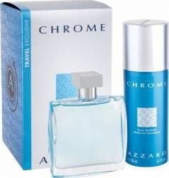 Apa de Toaleta Chrome 100ml + Deodorant Spray 150ml by Azzaro Barbati Apa de toaleta 100ml+Deodorant spray 150ml Seturi Cadou