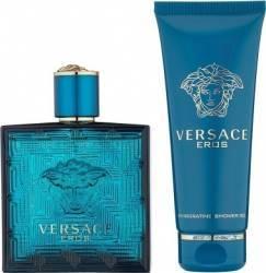 Apa de Toaleta Eros 100ml + Shower Gel 100ml by Versace Barbati Apa de toaleta 100ml+Gel de dus 100ml Seturi Cadou