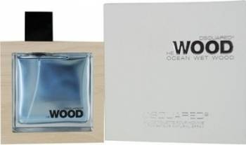 Apa de Toaleta He Wood Ocean Wet Wood by Dsquared2 Barbati 50ml Parfumuri de barbati