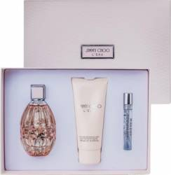 Apa de Toaleta LEau 90ml + Body Lotion 100ml + Eau de Toilett 7.5ml by Jimmy Choo Femei Apa de toaleta 90ml+Lotiune Seturi Cadou