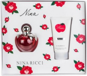 Apa de Toaleta Nina 50ml + Body Lotion 75ml by Nina Ricci Femei 50ml+75ml Seturi Cadou