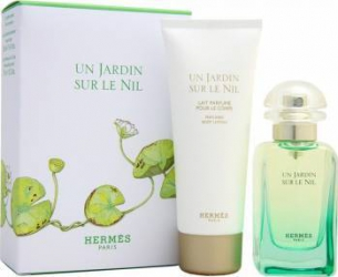Apa de Toaleta Un Jardin Sur Le Nil 50 ml + Lotiune de corp 75 ml by Hermes Unisex Parfumuri Unisex