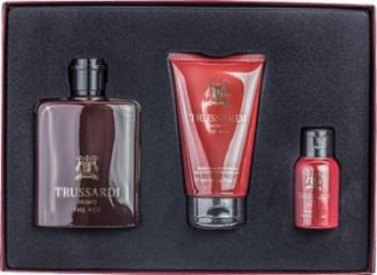 Apa de Toaleta Uomo the Red 100ml + Shower Gel 100ml + Beard Soap 50ml by Trussardi Barbati 100ml+100ml+50ml Seturi Cadou